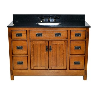 Sagehill Designs AC4821DN American Craftsman 48  Oak Vanity Cabinet Only  sc 1 st  Overstock.com : 21 inch vanity cabinet - Cheerinfomania.Com