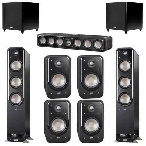 Polk Audio Signature 7.2 System with 2 S60 Speakers, 1 Polk S35, 4 Polk S20 Speakers, 2 Polk DSW PRO 660 wi Sub