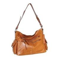5eee0e2df6 Nino Bossi Women s Pandora Leather Shoulder Bag Cognac - US Women s One  Size ...