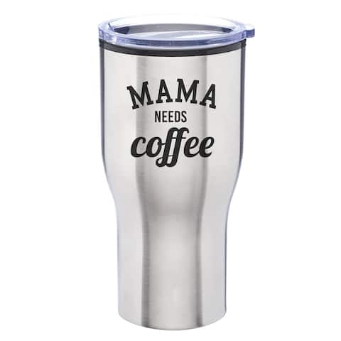 Mama Needs Coffee Engraved 28 oz. Stainless Steel Tumbler with Lid