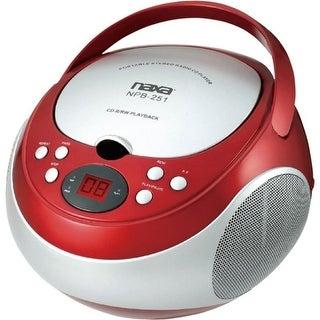 NAXA NPB251RD Portable CD Players with AM/FM Radio (Red)