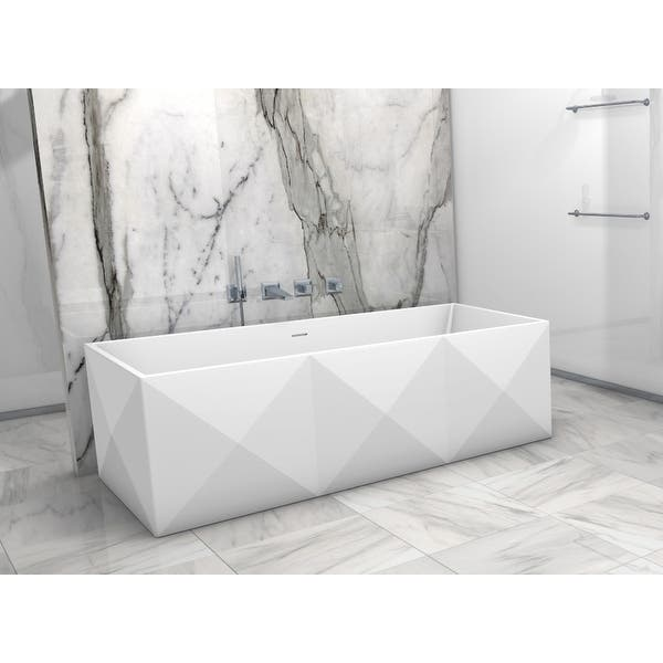 Solid Surface Soaking Bathtub