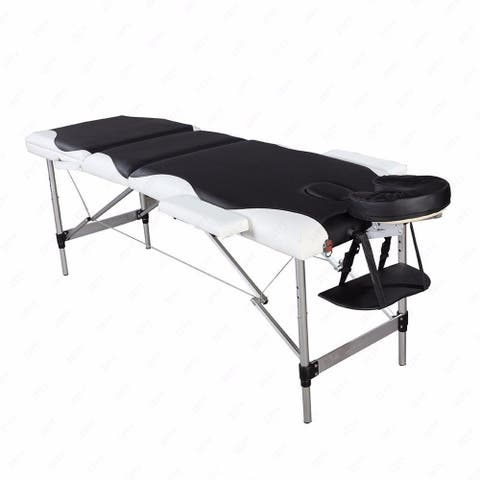 3 Fold Adjustable Massage Bed, Portable Massage Table For Bodybuilding, Spa Table For Facials, Tattoo Sessions And Body
