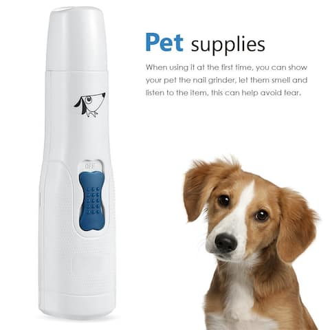Electric Dog Cat Nail Grinder Trimmer Grooming Tool Clipper For all size PET - M