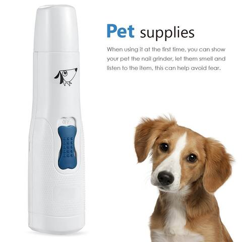 Electric Pet Nail Grinder Claw Paw Clipper Trimmer Grooming for All size Cat Dog - M