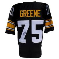 Mean Joe Greene Signed Custom Black Pro-Style Football Jersey HOF 87 JSA