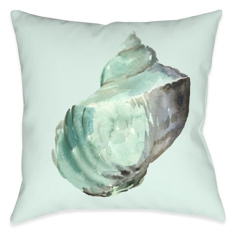 Shell In Mint Indoor Pillow