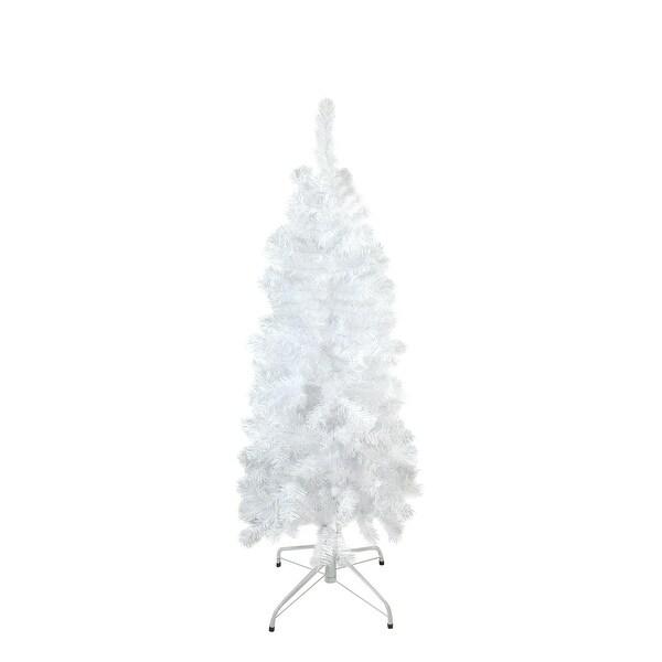 "4.5' x 24"" White Winston Pine Pencil Artificial Christmas Tree - Unlit"