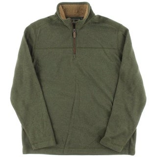 Bass Mens Fleece Faux Fur Lined Pullover Sweater
