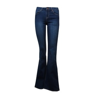 Tinseltown Juniors' Flare-Leg Jeans (Dark Blue, 3) - 3