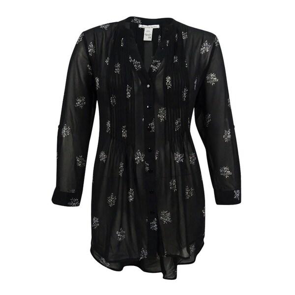 American Rag Womens Plus Size Floral Print Blouse 2x Classic