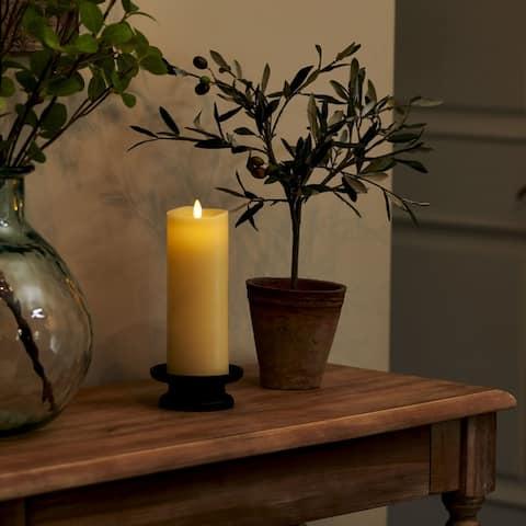 "Luminara Real-Flame Effect 3"" X 8.5"" Pillar LED Candle"