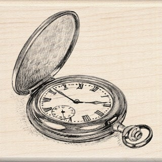 "Inkadinkado Mounted Rubber Stamp 3""X3""-Pocket Watch"