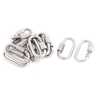 Unique Bargains M3.5 Thickness Multifunctional Stainless Steel Quick Links Carabiners 12pcs