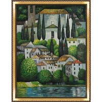 Gustav Klimt 'Church in Cassone (Landscape with Cypress)' Hand Painted Oil Reproduction