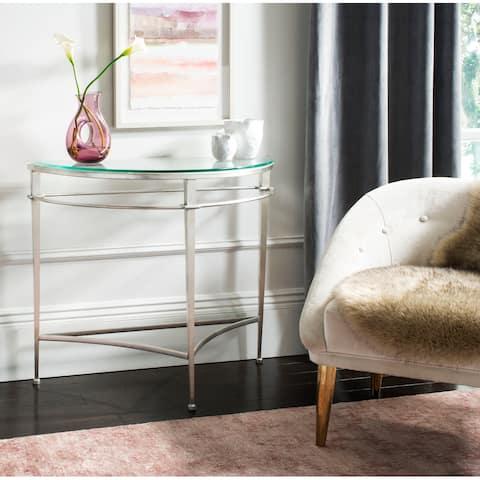 SAFAVIEH Couture Baur Antique Silver Glass Console Table