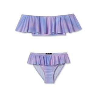 Stella Cove Girls Pink Blue Pastel Ombre Ruffle 2 Pc Bikini Swimsuit