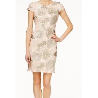 Calvin Klein NEW Pink Sequin Embellished Women's Size 2 Sheath Dress