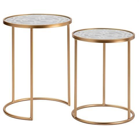 Mari ST/2 Gold Metal Nesting Tables