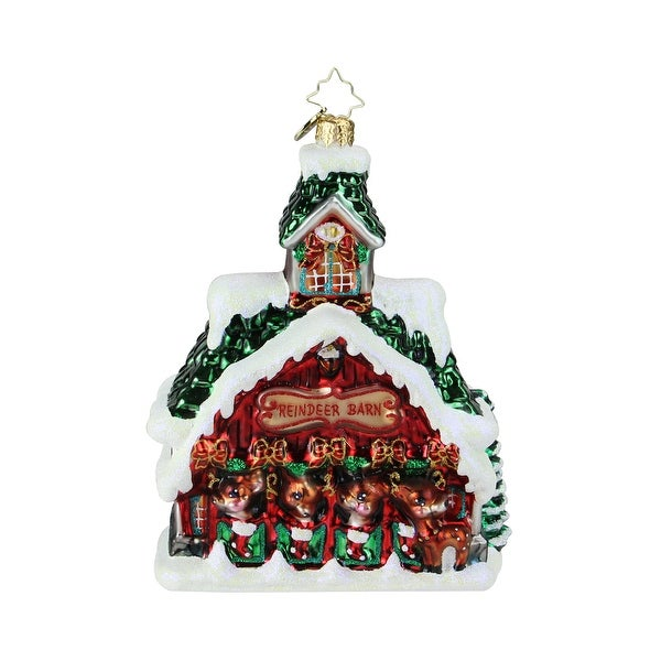Christopher Radko Goodnight Donner, Goodnight Blitzen Christmas Ornament #1019221 - green