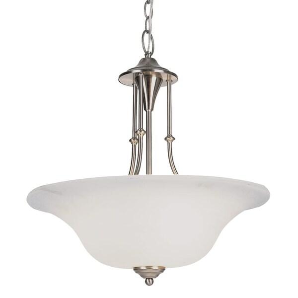 Trans Globe Lighting PL-6543 Payson 3 Light Fluorescent Full Sized Foyer Pendant - Weathered Bronze
