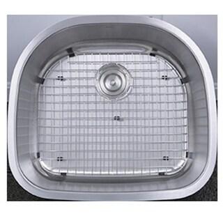 Sconset 23 in. D-Bowl Undermount Stainless Steel Kitchen Sink,
