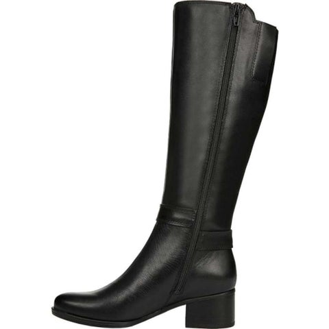 Naturalizer Womens Dane Leather Almond Toe Knee High Fashion Boots