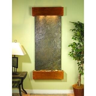 Adagio Inspiration Falls Fountain w/ Green Natural Slate in Rustic Copper Finish