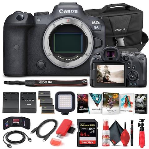 Canon EOS R6 Mirrorless Camera Body Only 4082C002 - Advanced Bundle