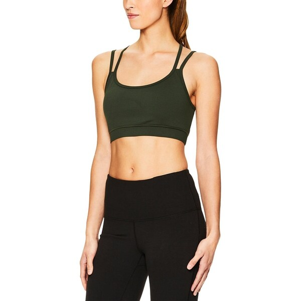 Shop Gaiam Womens Stella Sports Bra Fitness Yoga - Free Shipping On ... 37b62f709e
