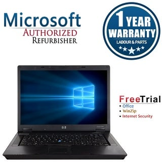 Refurbished HP Compaq 6510B 14.1'' Laptop Intel Core 2 Duo T7100 1.8G 2G DDR2 80G DVD Win 7 Pro 64-bit 1 Year Warranty - Black