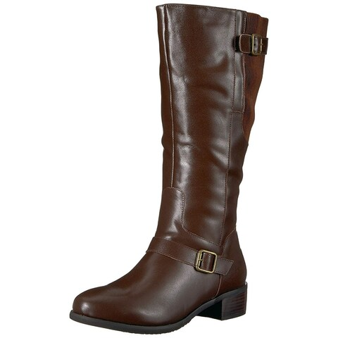Propét Womens Teagan Leather Closed Toe Mid-Calf Fashion Boots