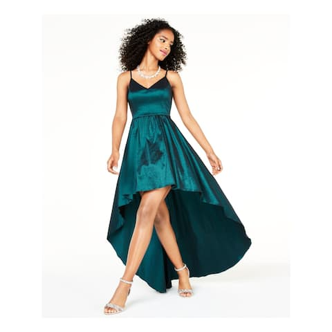 B DARLIN Teal Spaghetti Strap Short Hi-Lo Dress Size 15\16