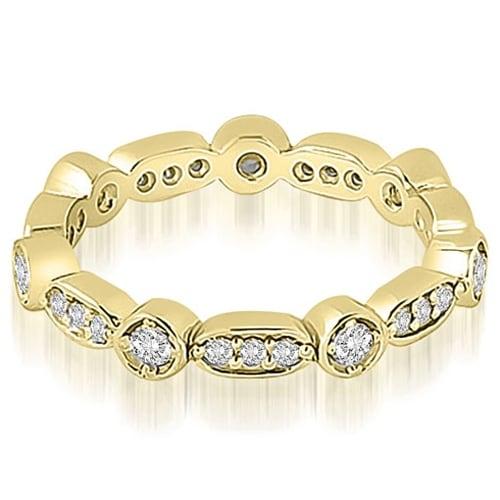 0.40 cttw. 14K Yellow Gold Round Diamond Eternity Ring,HI,SI1-2