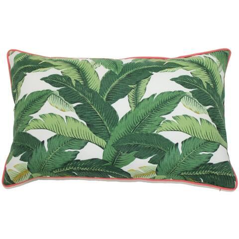Jiti Green Nature Tropical Leaves Sunbrella Outdoor Pillows