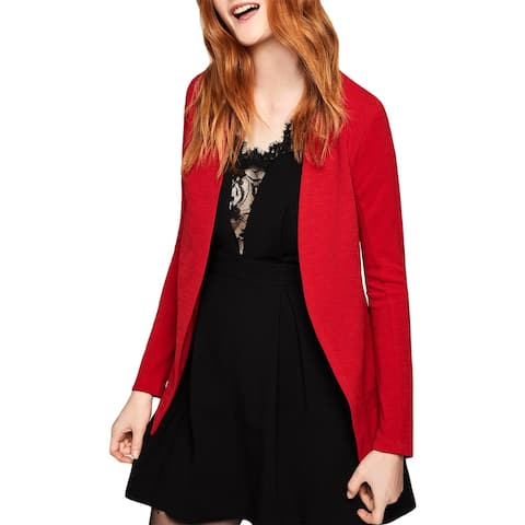 BCBGeneration Womens Collarless Blazer Knit Tuxedo