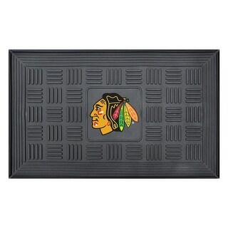 Chicago Blackhawks Medallion Door Mat