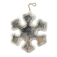 "6.25"" Embellished Snowflake Decorative Christmas Ornament - brown"