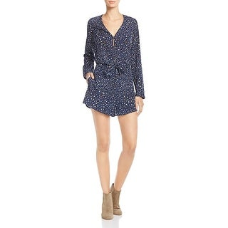 Likely Womens Ryerson Romper Galaxy Print Tie Front