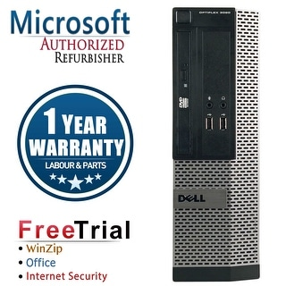Refurbished Dell OptiPlex 3020 SFF Intel Core I5 4570 3.2G 16G DDR3 1TB DVD WIN 10 Pro 64 1 Year Warranty - Black