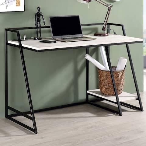 Furniture of America Meard Industrial 1-shelf Writing Desk