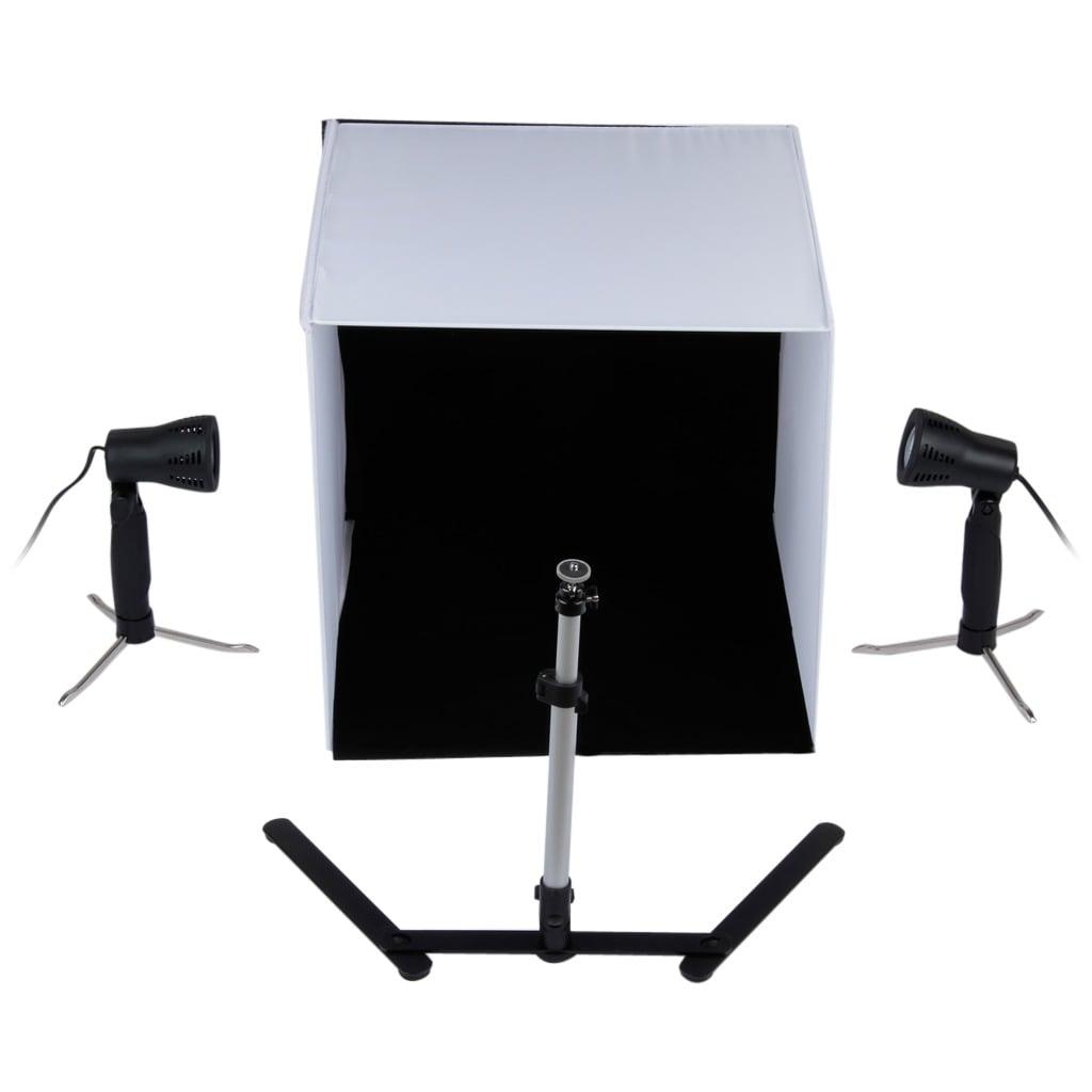 Excelvan Mini Portable Photo Studio Lighting Kit Cube Tent 40cm X Light Four Backgrounds
