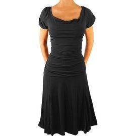 Funfash Plus Size Dress Gothic Black Women Cocktail Cruise Dress
