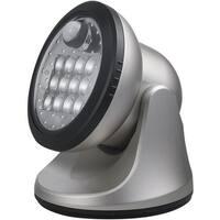 Fulcrum 20034-101 Motion Sensor LED Porch Light, Silver