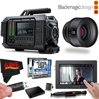 Blackmagic Design URSA 4K v1 Digital Cinema Camera (Canon EF Mount) #CINECAMURSA4K/EF + Rokinon Xeen 135mm T2.2 Lens Bundle