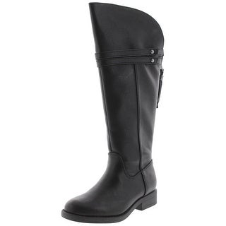 Sugar Girls Glazed Knee-High Boots Belted Faux Leather - 12 medium (b,m)