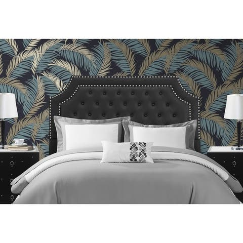 Chic Home Malan PU Leather Upholstered Button Tufted Headboard