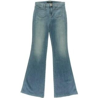 J Brand Womens Demi Ashbury Wash High Waist Flare Jeans - 27
