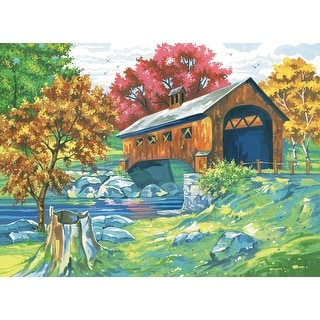 "Paint By Number Kit 12""X16""-Covered Bridge"