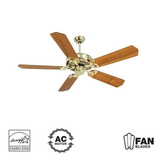 "Craftmade K10974 CXL 52"" 5 Blade Energy Star Indoor Ceiling Fan - Blades Included - polished brass"